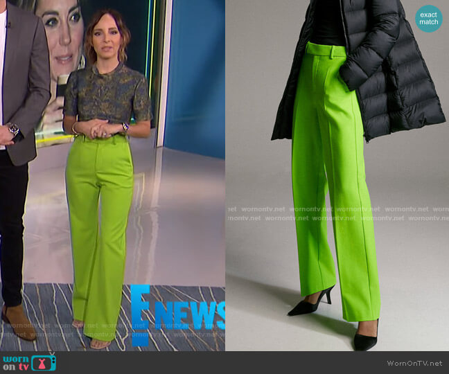 Agency Pant by Babaton worn by Lilliana Vazquez  on E! News