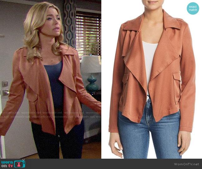 Bagatelle Draped Utility Jacket worn by Shauna Fulton (Denise Richards) on The Bold & the Beautiful