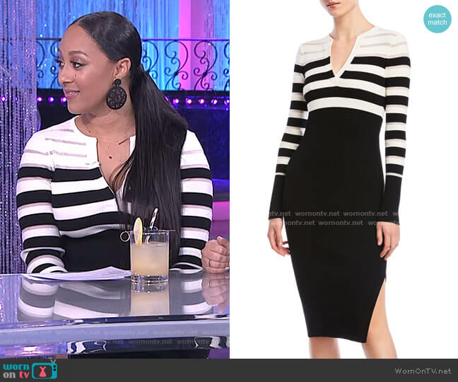 Candice Sweater Dress by Bailey 44 worn by Tamera Mowry  on The Real