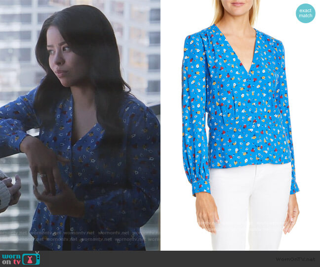 Lali Top by Ba&sh worn by Mariana Foster (Cierra Ramirez) on Good Trouble