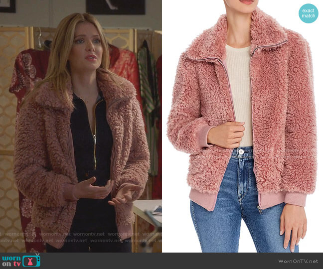 Teddy Or Not Faux-Fur Jacket by BB Dakota worn by Sutton (Meghann Fahy) on The Bold Type