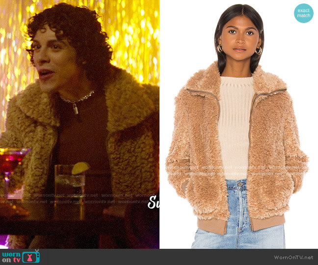BB Dakota Teddy Or Not Faux Fur Bomber Jacket worn by Jorge Lopez (Jonny Beauchamp) on Katy Keene