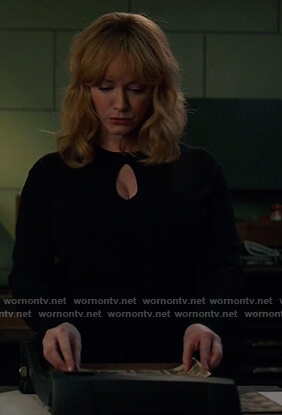 Beth's black keyhole sweater on Good Girls