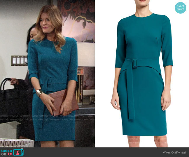 Black Halo Jade Emma Dress worn by Phyllis Summers (Michelle Stafford) on The Young & the Restless