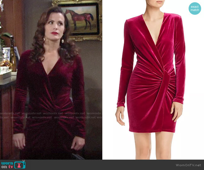 Black Halo Lara Velvet Mini Dress worn by Chelsea Lawson (Melissa Claire Egan) on The Young & the Restless