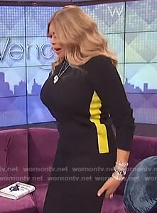 Wendy's black side stripe sweater on The Wendy Williams Show