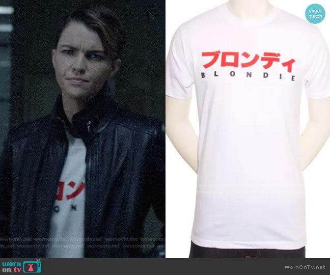 Blondie Mens Japan Tour T-shirt worn by Kate Kane (Ruby Rose) on Batwoman
