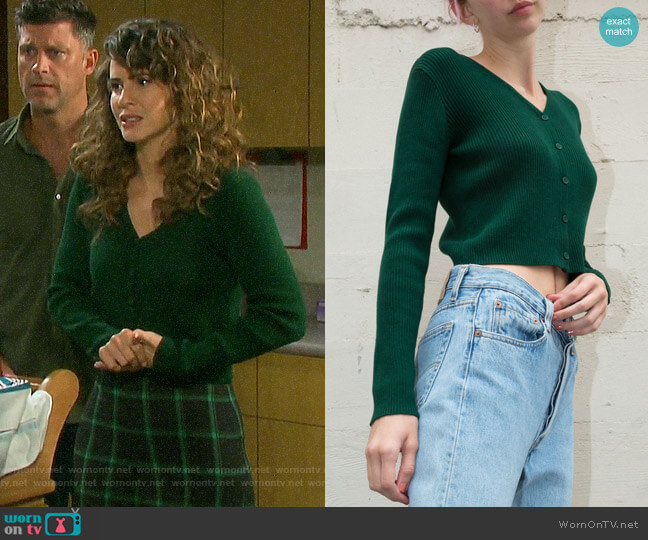 Brandy Melville Shannon Sweater worn by Sarah Horton (Linsey Godfrey) on Days of our Lives