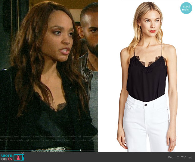 Cami NYC Racer Top worn by Lani Price (Sal Stowers) on Days of our Lives