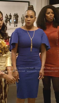 Candace Mason's blue cape dress on Empire
