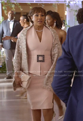 Candace Mason's pink belted peplum dress on Empire