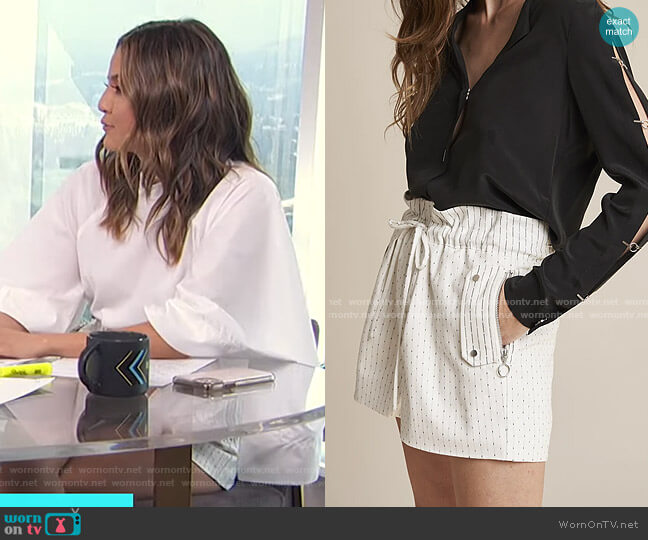 Smith Shorts by Chelsea and Walker worn by Erin Lim  on E! News