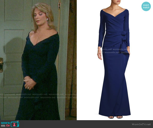 Chiara Boni La Petite Robe Silvera Gown worn by Marlena Evans (Deidre Hall) on Days of our Lives