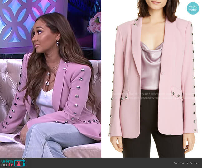 Dive Studded Blazer by Cinq a Sept worn by Adrienne Houghton  on The Real
