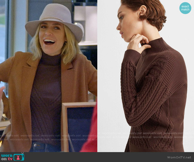 Club Monaco Cable Front Turtleneck Sweater worn by Kristin Cavallari  on Very Cavallari