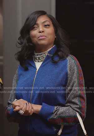 Cookie's lurex track jacket and pants on Empire
