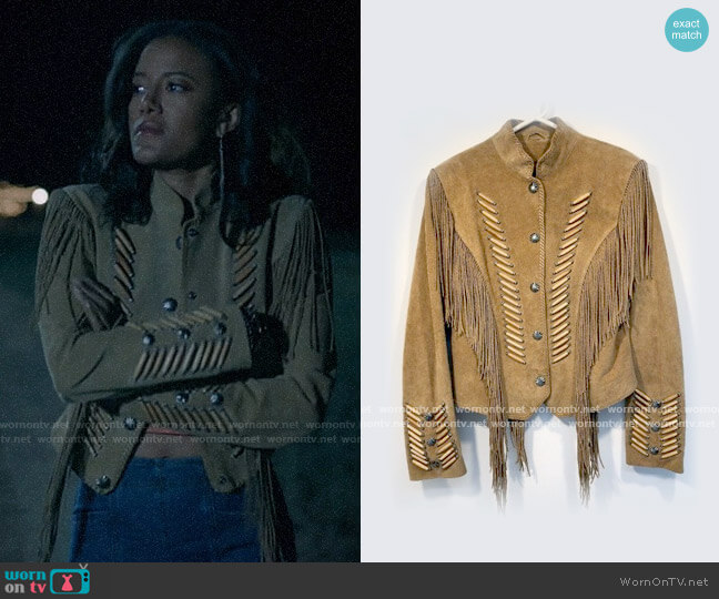 Cripple Creek Fringed Military Jacket worn by Maria DeLuca (Heather Hemmens) on Roswell New Mexico