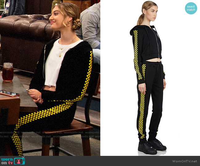 Danielle Guizio Godspeed Track Suit worn by Brooke Bishop (Bella Podaras) on The Expanding Universe of Ashley Garcia