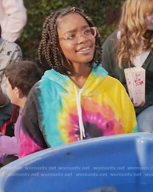 Diane's rainbow tie dye hoodie on Black-ish