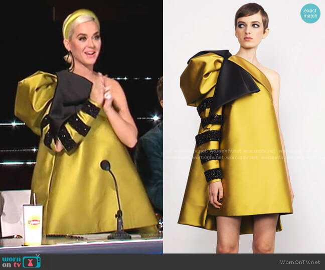 Spring 2019 Collection by Dice Kayek worn by Katy Perry  on American Idol