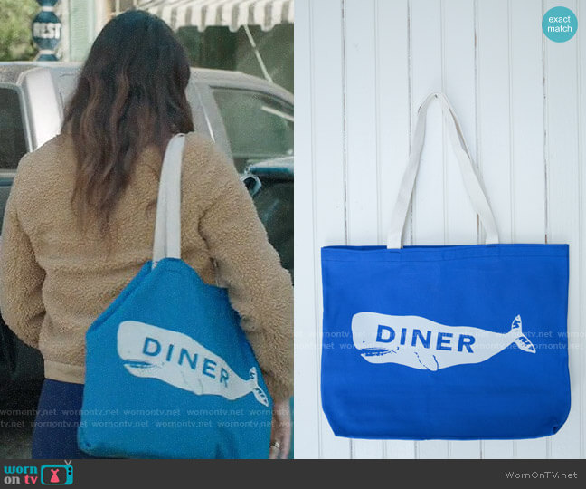 Diner NYC Diner Whale Tote worn by Rio (Lake Bell) on Bless This Mess