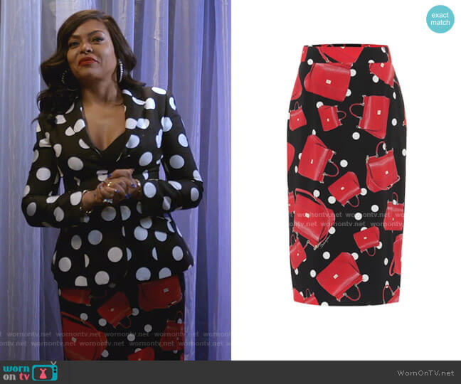 Printed Midi skirt by Dolce & Gabbana worn by Cookie Lyon (Taraji P. Henson) on Empire