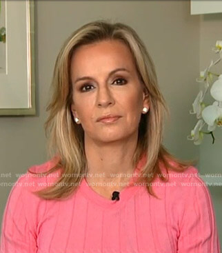 Dr. Jennifer Ashton's pink ribbed sweater on Good Morning America
