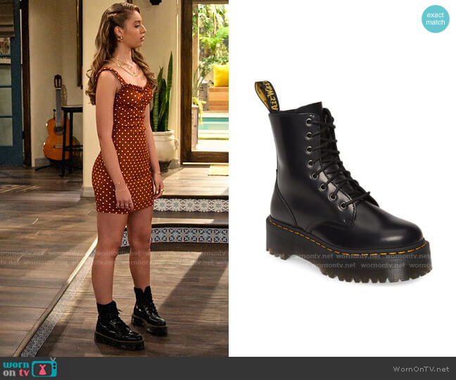 Dr Martens Jadon Boots worn by Brooke Bishop (Bella Podaras) on The Expanding Universe of Ashley Garcia