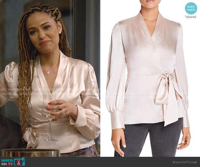 Shay Silk Wrap Blouse by Elie Tahari worn by Teri Brooks-Lyon (Meta Golding) on Empire