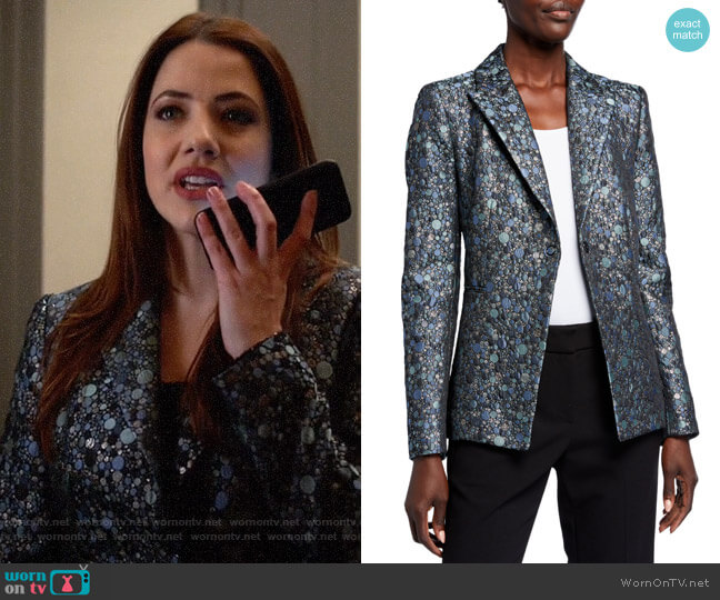 Elie Tahari Amalfi Multi Limani Jacket worn by Andrea Rojas (Julie Gonzalo) on Supergirl