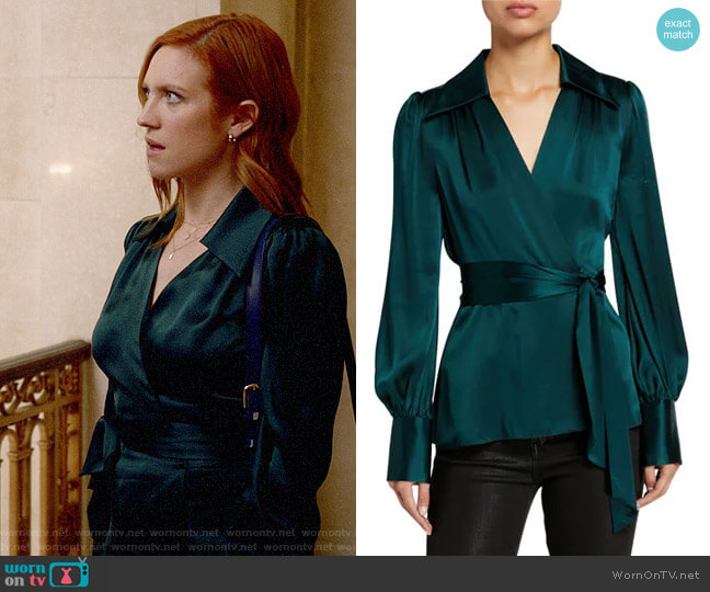 Elie Tahari Shay Blouse worn by Julia Bechley (Brittany Snow) on Almost Family