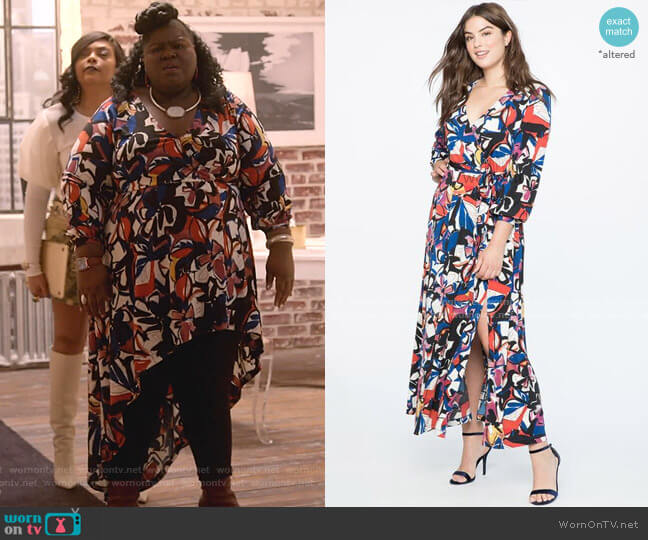 Floral Wrap Dress by Eloquii worn by Becky (Gabourey Sidibe) on Empire