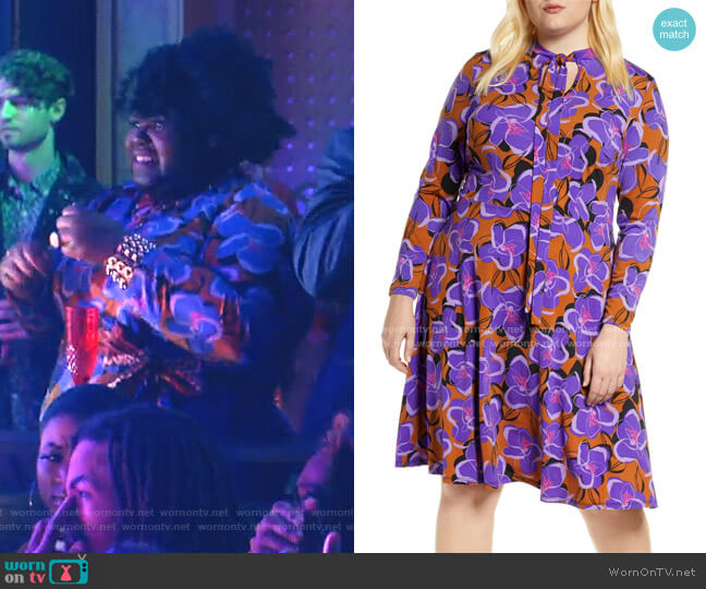 Tie Neck Long Sleeve Dress by Eloquii worn by Becky (Gabourey Sidibe) on Empire