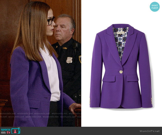 Emilio Pucci Wool-blend blazer worn by Amanda Doherty (Victoria Cartagena) on Almost Family