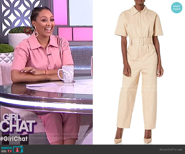 Heloise Utility Style Short Sleeve Jumpsuit by Finders Keepers worn by Tamera Mowry  on The Real