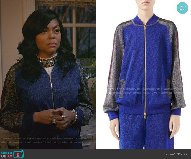 Fine Wool Lurex Track Jacket and Track Pants by Gucci worn by Cookie Lyon (Taraji P. Henson) on Empire