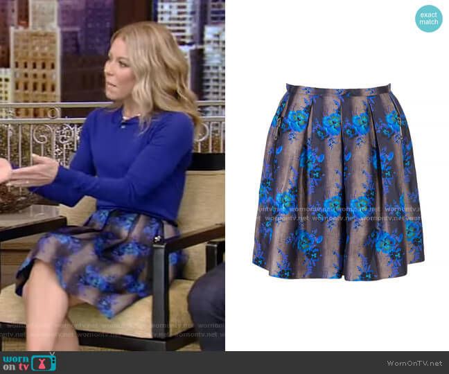 Heavy Silk Organza Mini Princess Skirt by Christopher Kane worn by Kelly Ripa  on Live with Kelly & Ryan