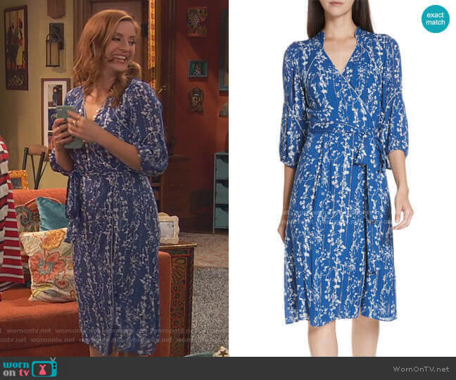 Folia Dress by ba&sh worn by Chelsea Grayson (Anneliese van der Pol) on Ravens Home