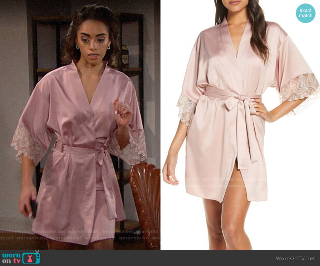 Flora Nikrooz Ada Robe worn by Zoe (Kiara Barnes) on The Bold & the Beautiful