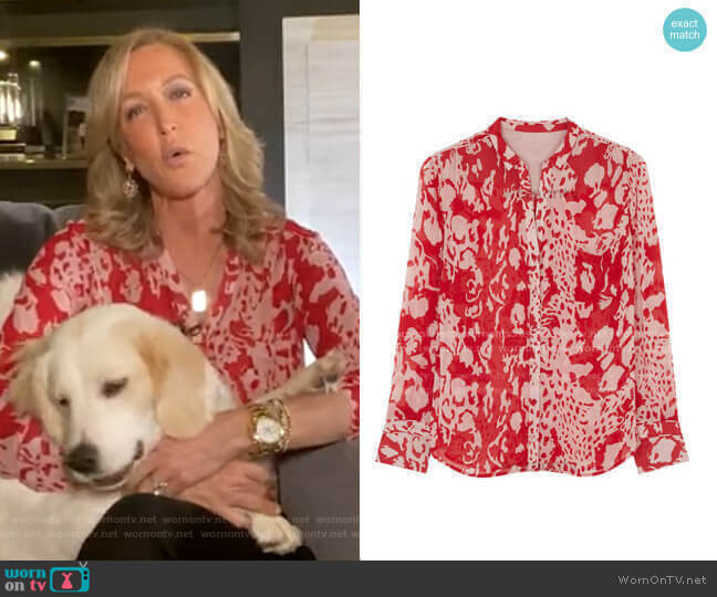 Floral Print Blouse by Ba&Sh worn by Lara Spencer  on Good Morning America