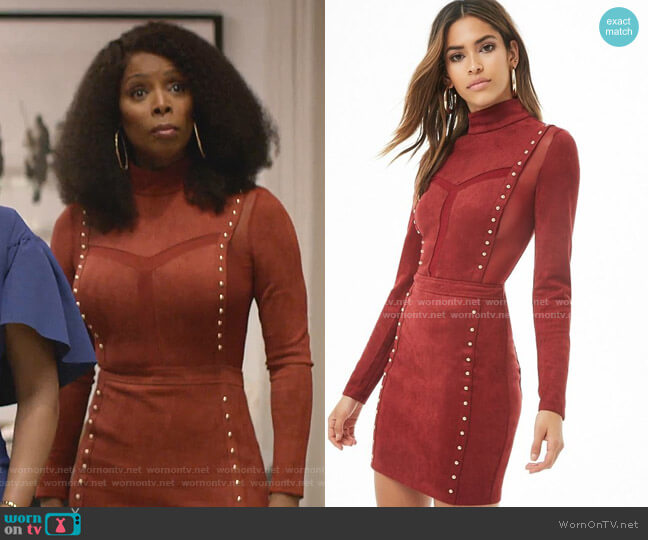 Studded Mini Dress by Forever 21 worn by Tasha Smith on Empire