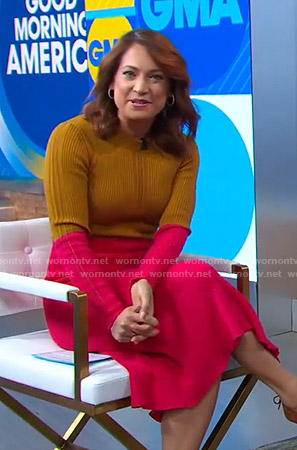 Ginger's colorblock ribbed dress on Good Morning America