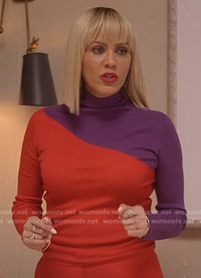 Giselle's red and purple turtleneck sweter on Empire