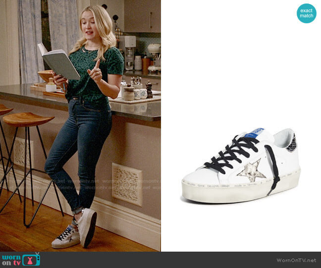 Golden Goose Hi Star Sneakers worn by Roxy Doyle (Emily Osment) on Almost Family