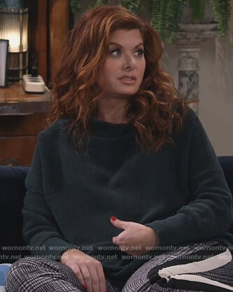 Grace's gray plaid pants on Will and Grace
