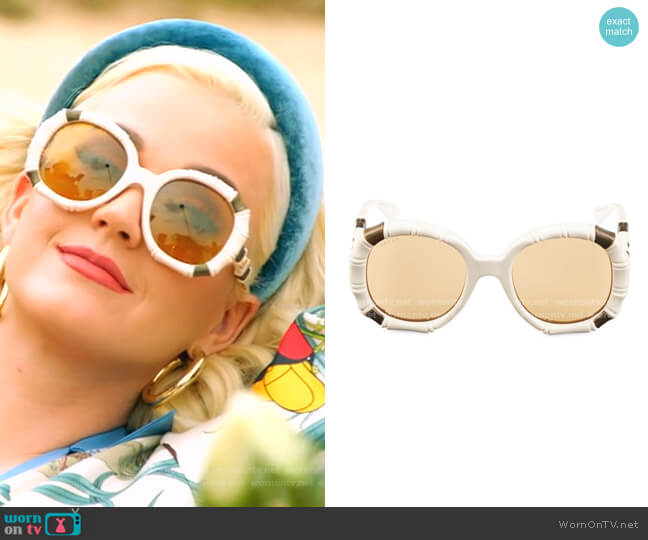 Bamboo-Effect Round Sunglasses by Gucci worn by Katy Perry  on American Idol