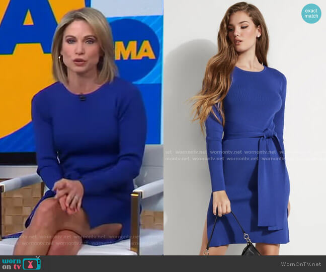 Coss Sweater Dress by Guess worn by Amy Robach  on Good Morning America