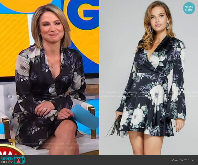 Stardust Floral Dress by Guess worn by Amy Robach  on Good Morning America
