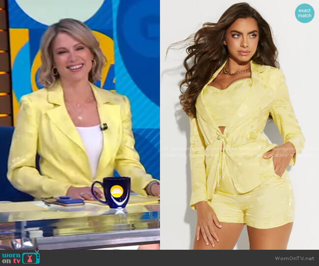 Femme Floral Blazer by Guess worn by Amy Robach  on Good Morning America
