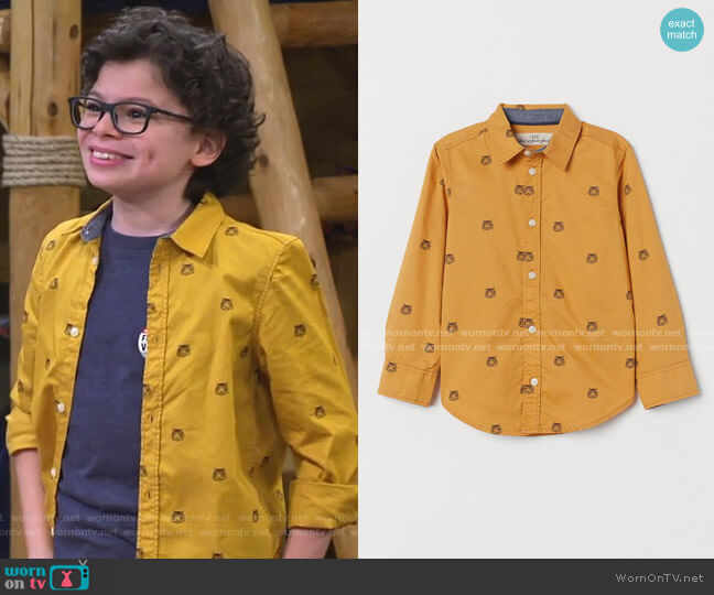 Cotton Shirt by H&M worn by Matteo Silva (Raphael Alejandro) on Bunkd